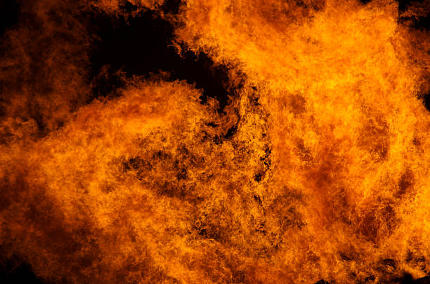 Blazing fire stock photo