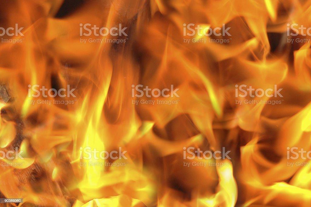 Blazing fire royalty-free stock photo