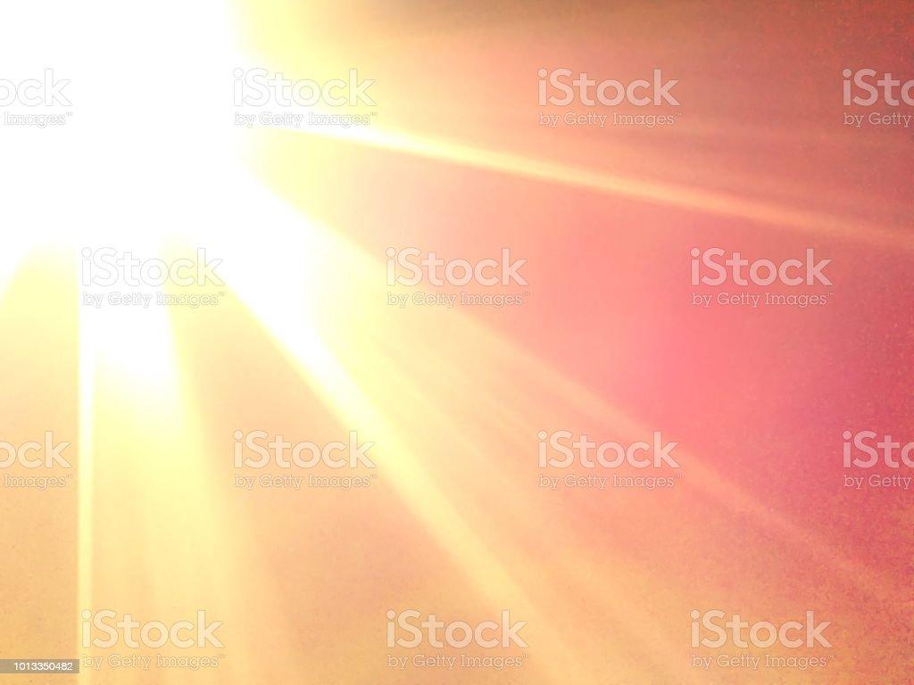 Em chamas de glória do sol foto de stock royalty-free