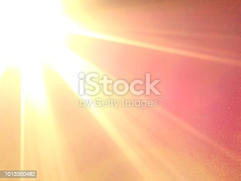 A view of the sun's radiance for background.
