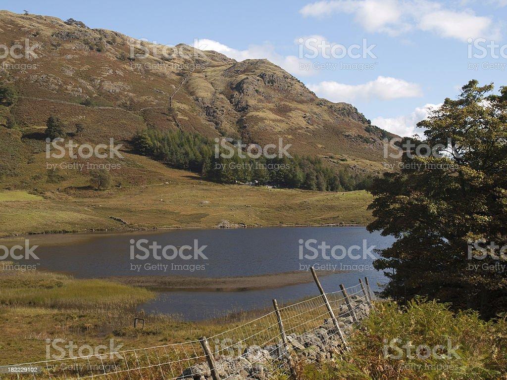Blea Tarn and Lingmoor Fell Lake District stock photo