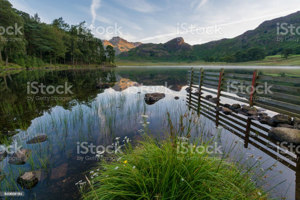 Blea Tarn In The Lake District. stock photo