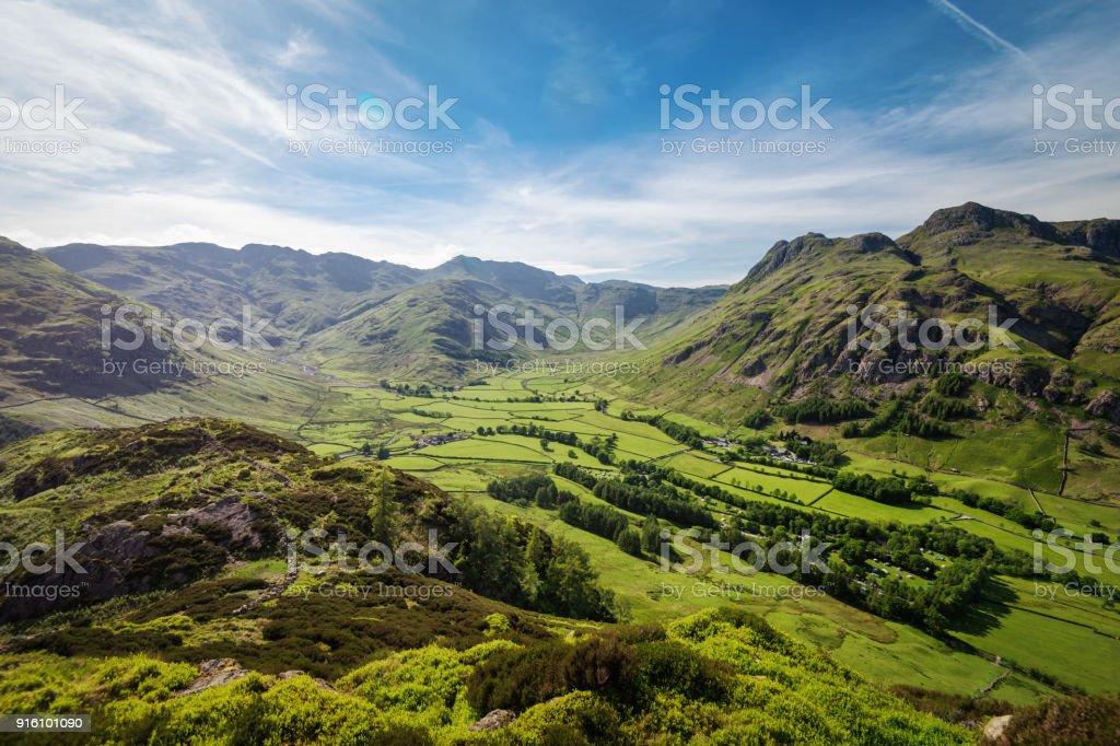 Blea Tarn Lake District United Kingdom stock photo
