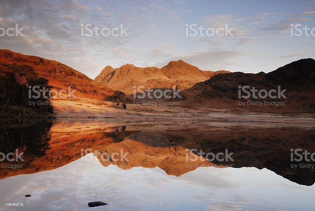 Blea Tarn reflections stock photo