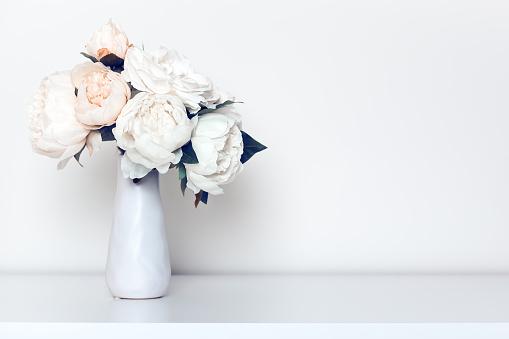 Bleached Peonies In Vase