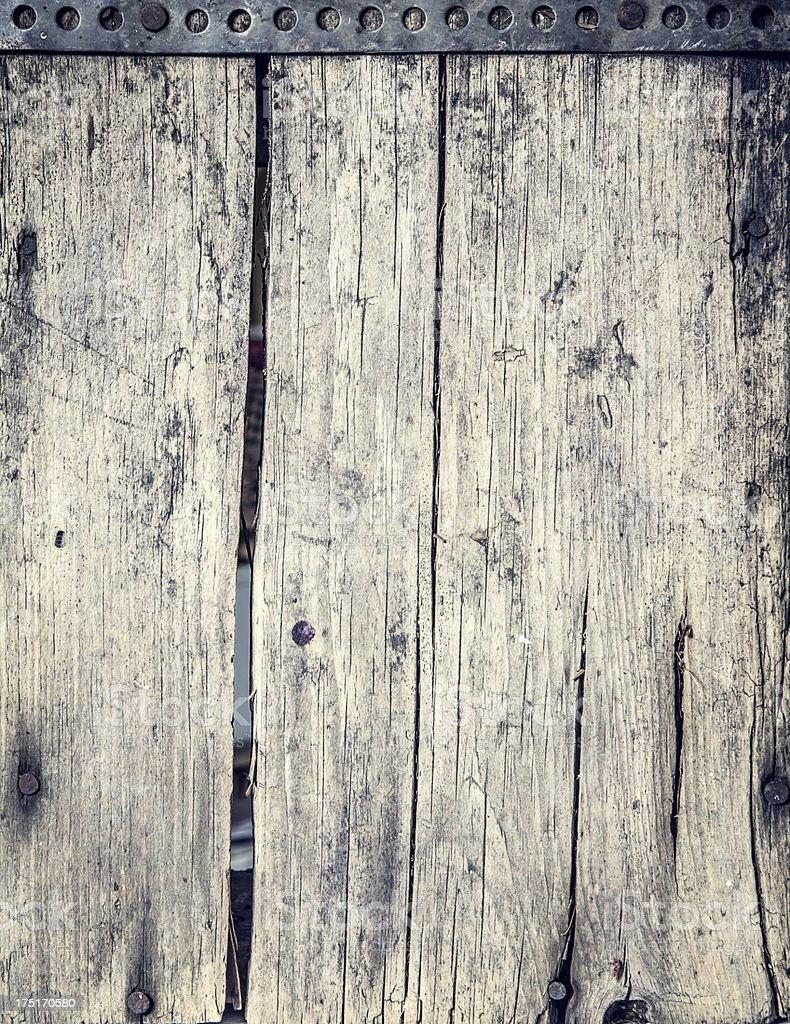 Bleached Rustic Wood Background royalty-free stock photo