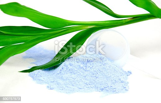 istock Bleaching powder, leaf and paint 530757573