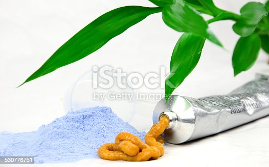 istock Bleaching powder, leaf and paint 530776751
