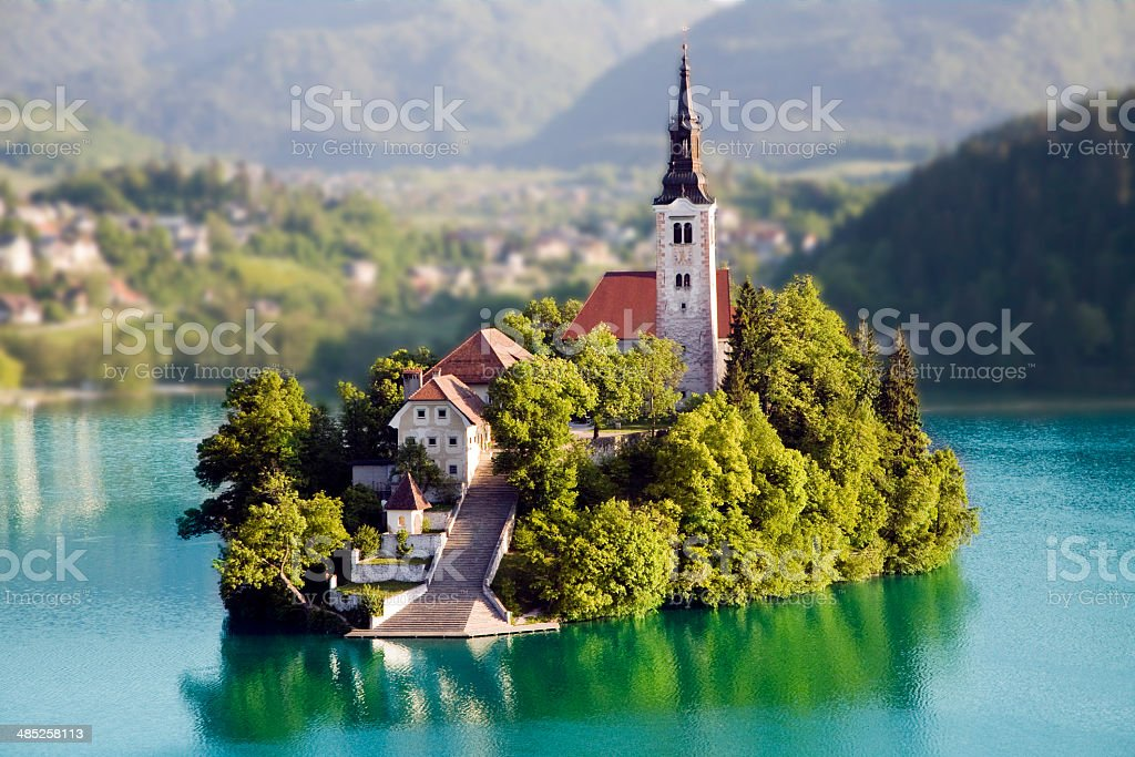 Bled island stock photo