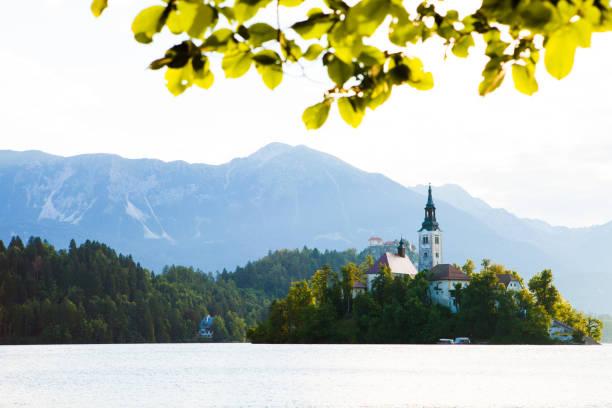 Bled Lake Slovenia stock photo