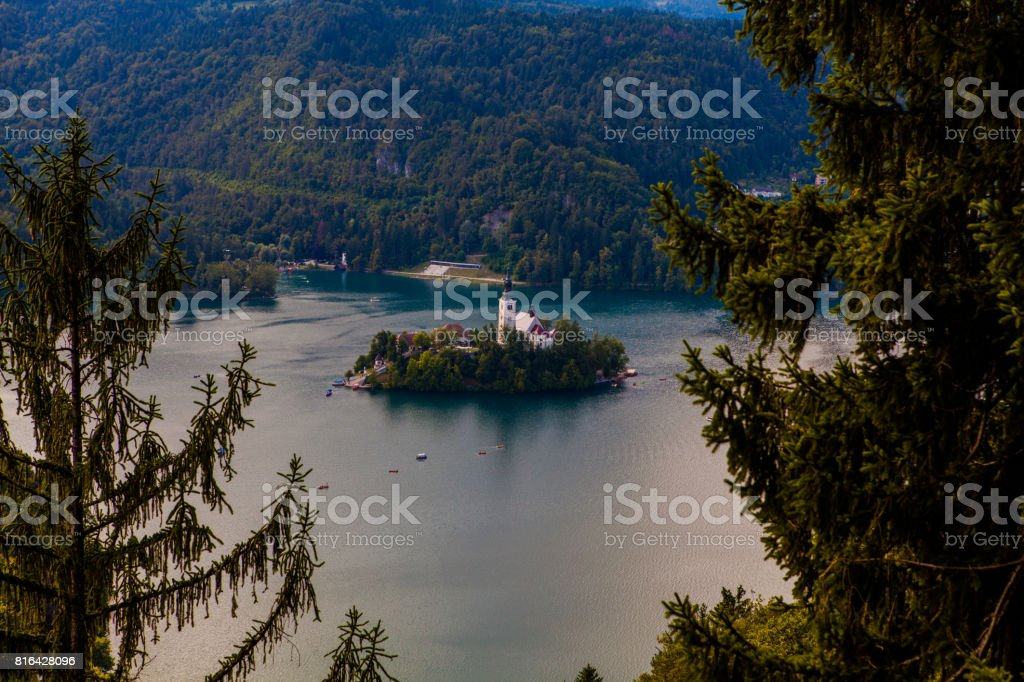 Bled Lake Slovenia stock photo