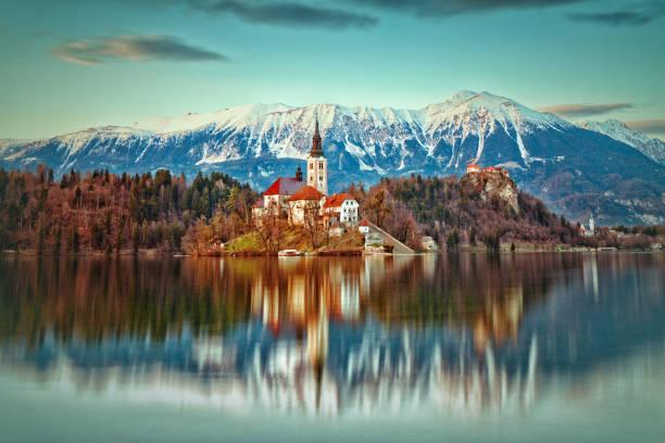bled, slovénie - slovénie photos et images de collection