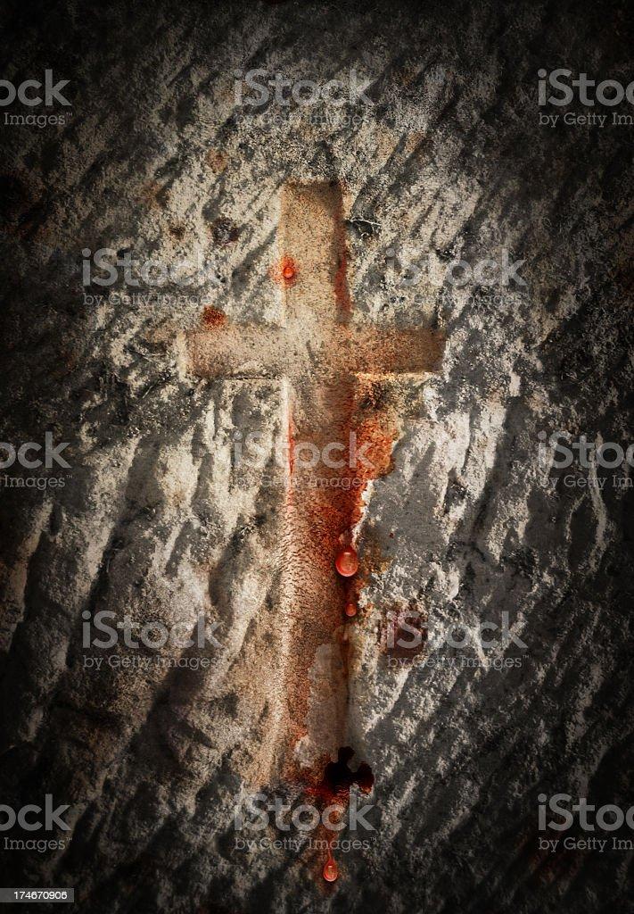 Bleeding Cross stock photo