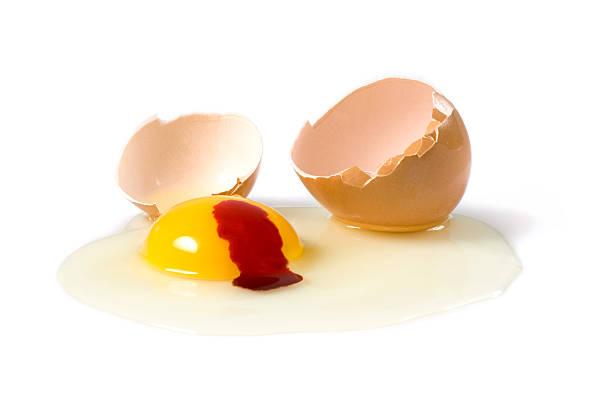Bleeding Egg stock photo