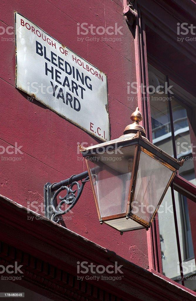Bleeding Hart Yard in London stock photo