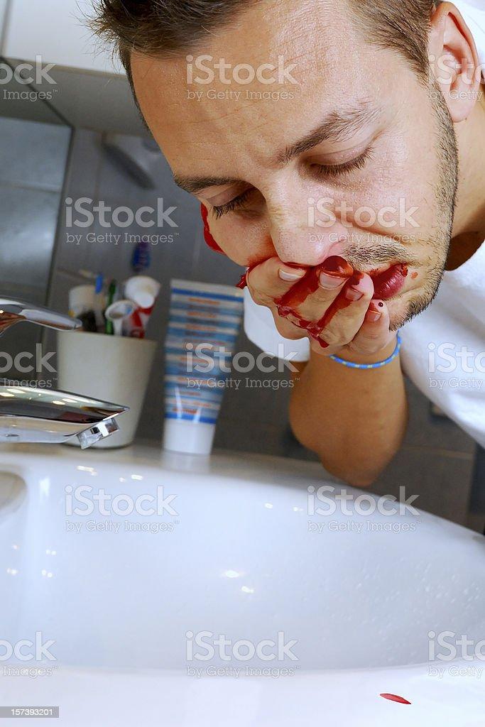 Bleeding royalty-free stock photo