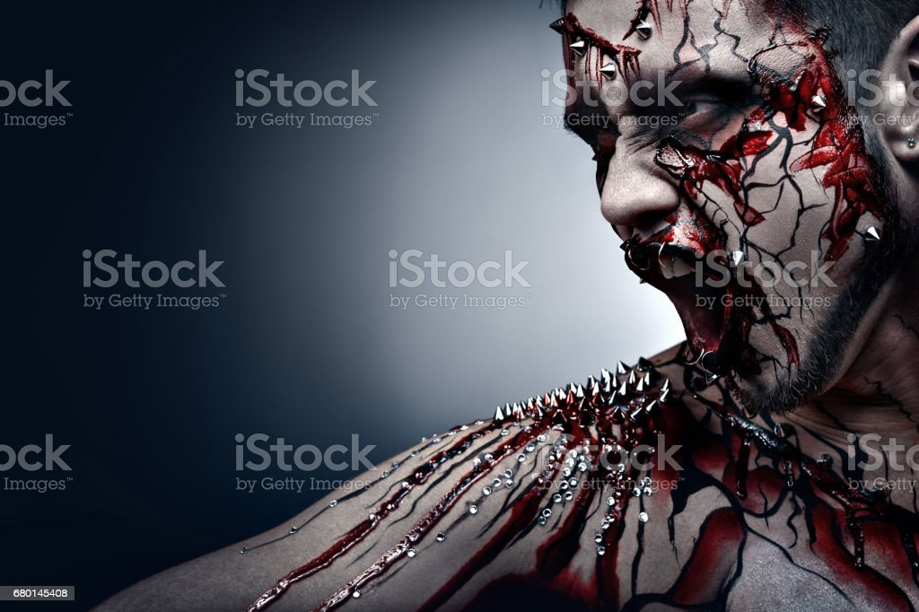 Bleeding scars. stock photo
