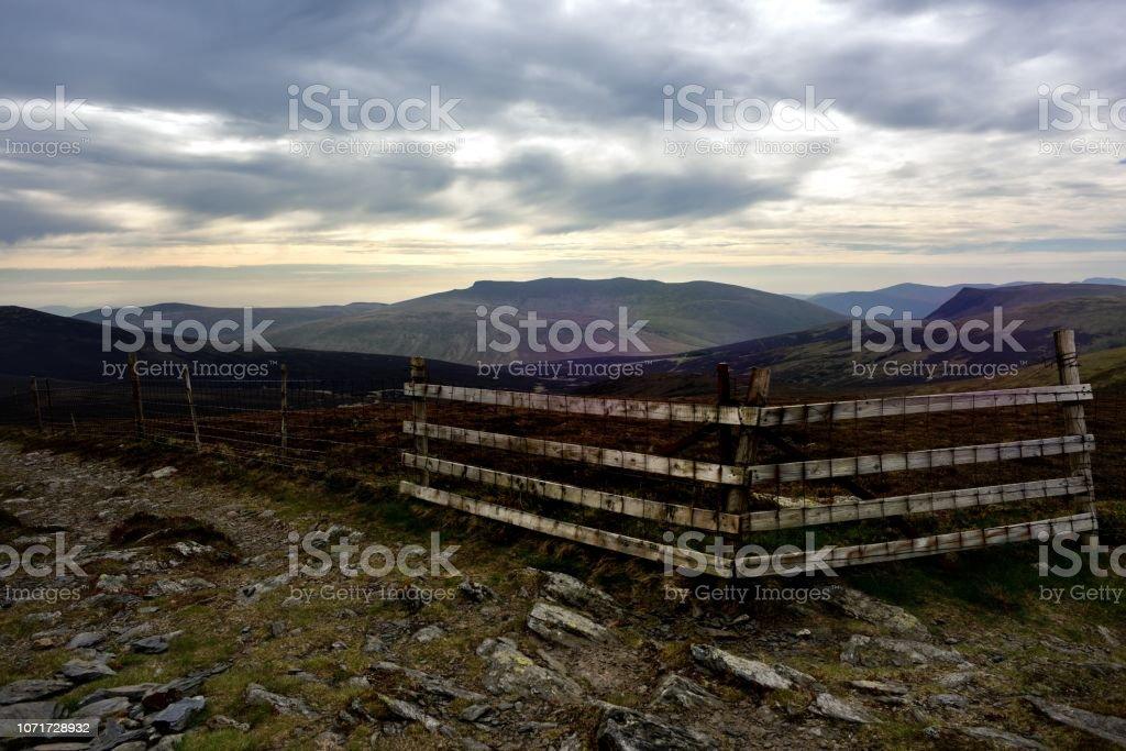 Blencathra from the summit of Bakestall stock photo