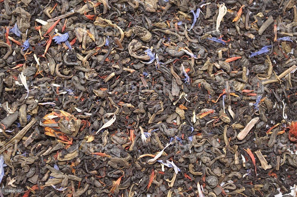Blend of Flavoured Tea royalty-free stock photo
