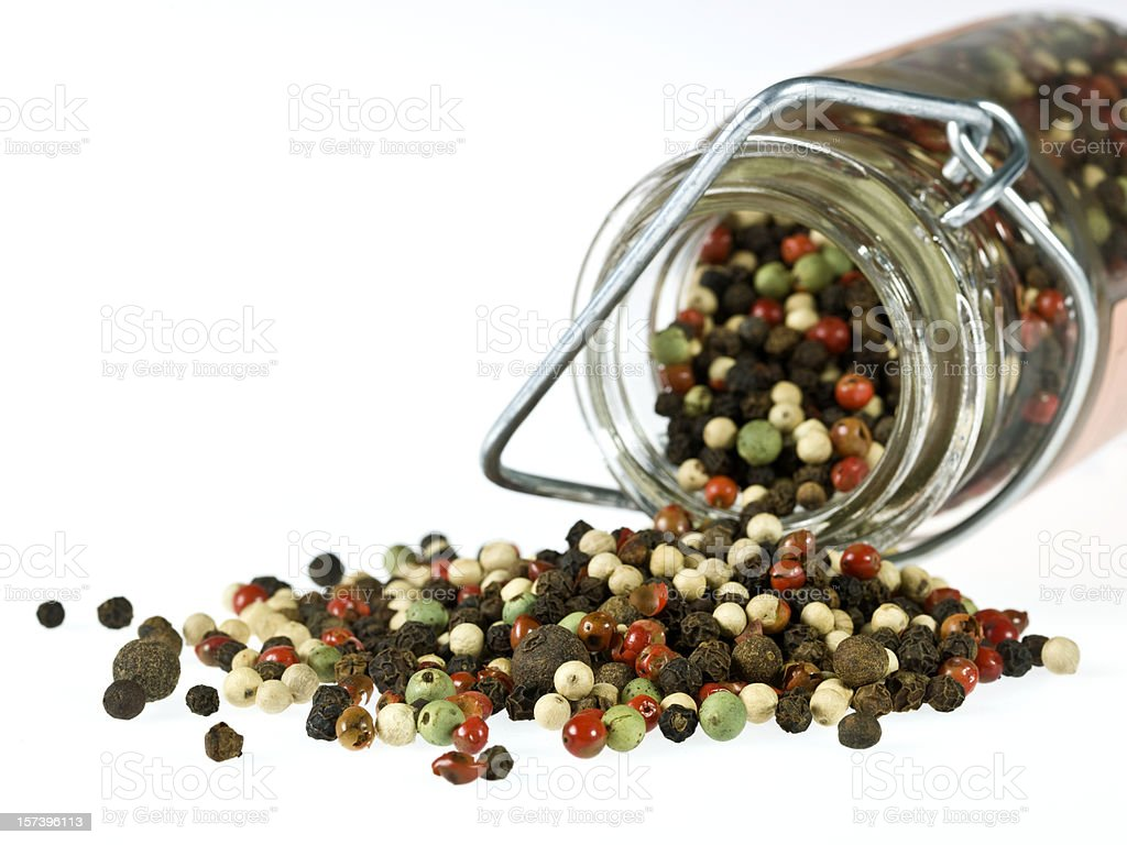 Blend of peppercorns close up royalty-free stock photo