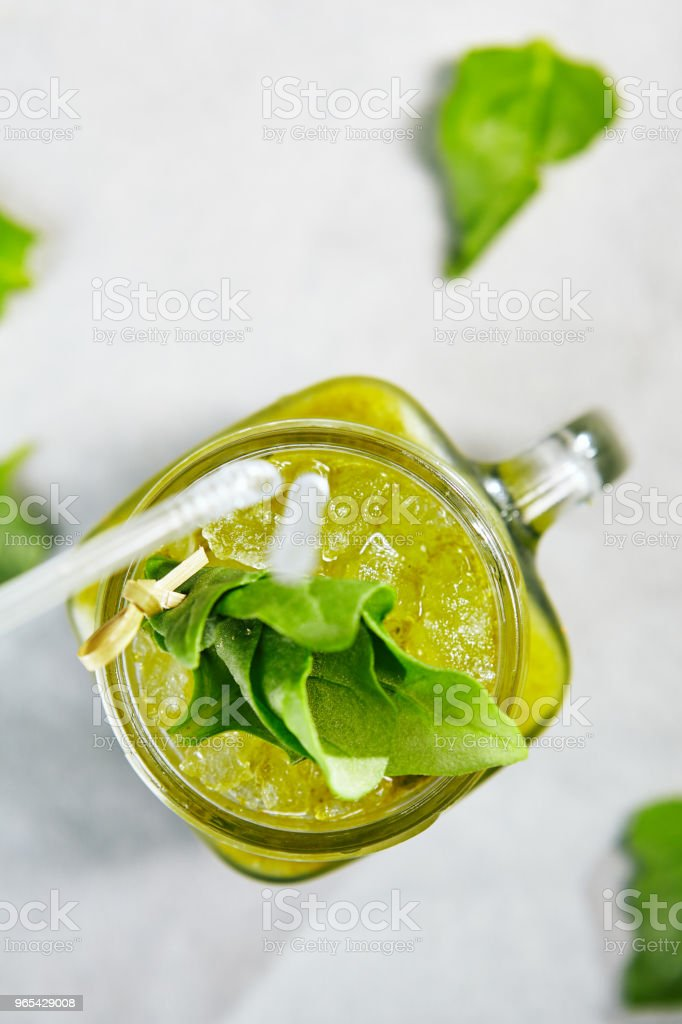 Blended Green Smoothie royalty-free stock photo