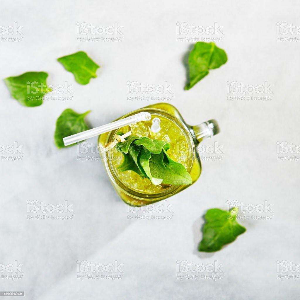 Gemischten grünen Smoothie - Lizenzfrei Alkoholfreies Getränk Stock-Foto