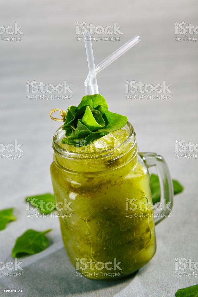 Blended Green Smoothie zbiór zdjęć royalty-free