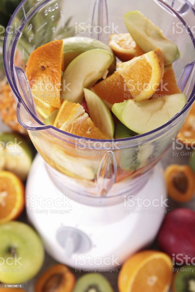 blender with fruits royalty-free stock photo