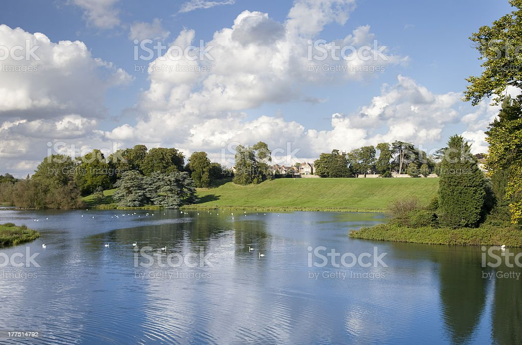 Blenheim Palace Grounds in Oxfordshire. England stock photo