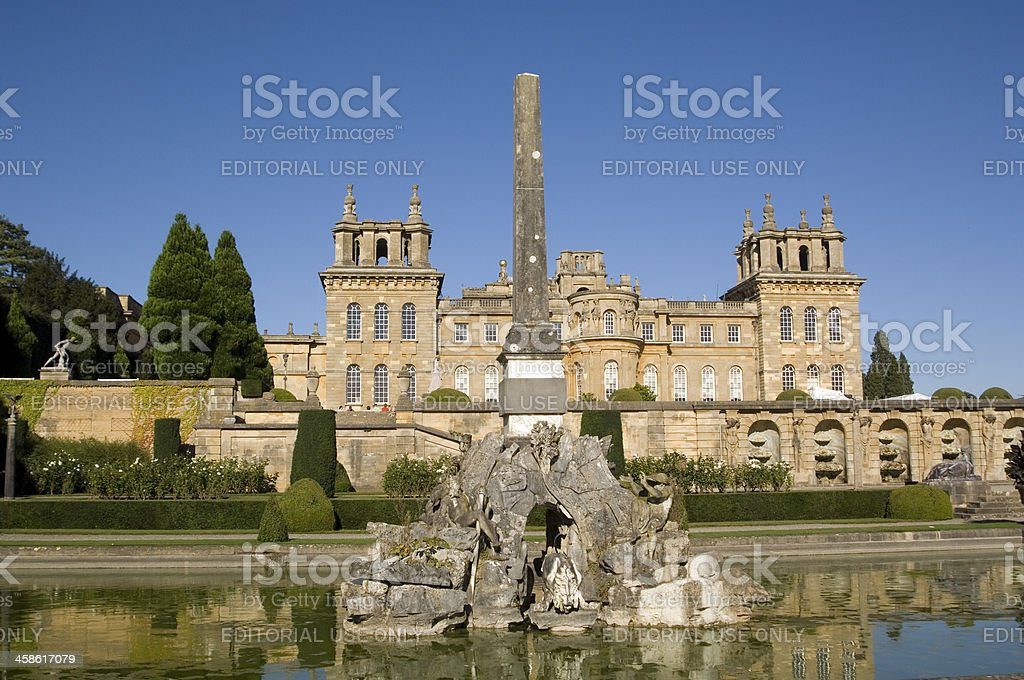 Blenheim Palace, Oxfordshire, England stock photo