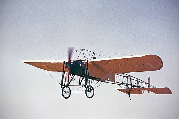 Bleriot XI 1909 airplane flying - Photo