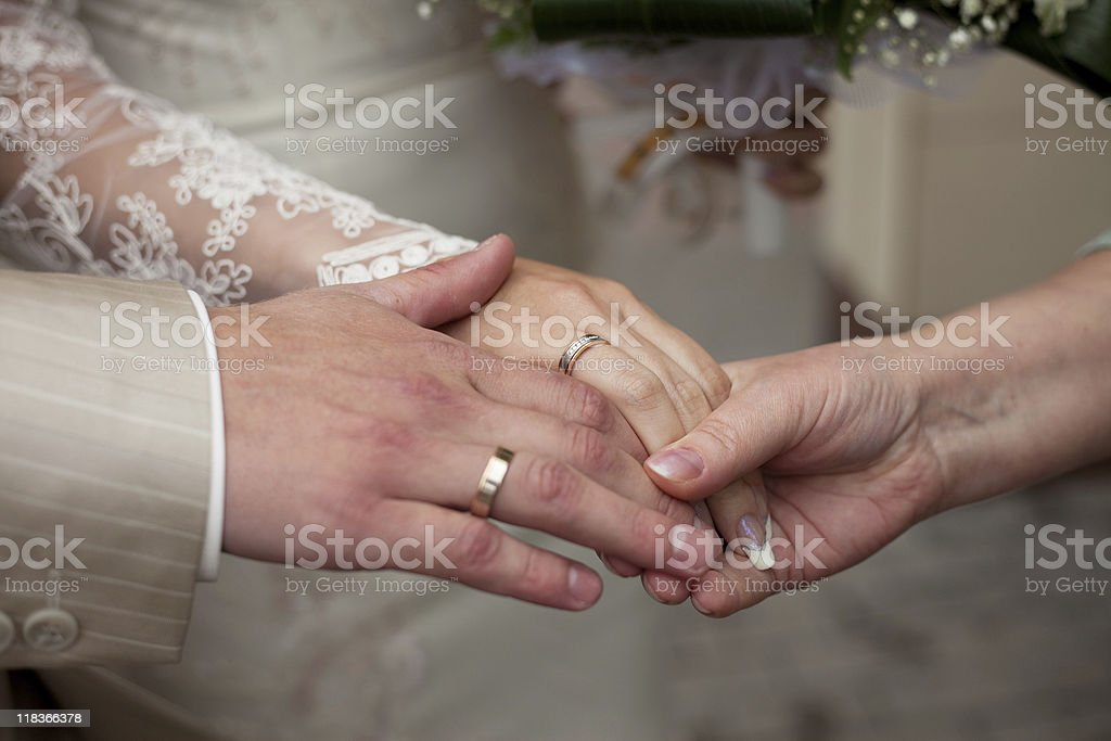 bless the newlyweds royalty-free stock photo