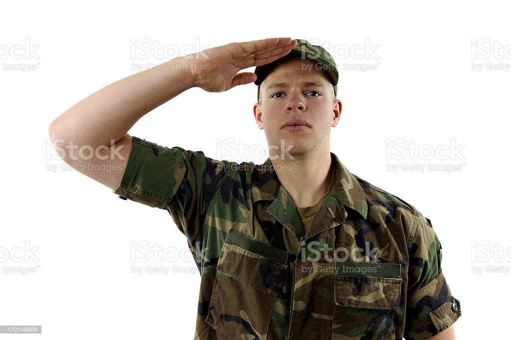 Salute royalty-free stock photo