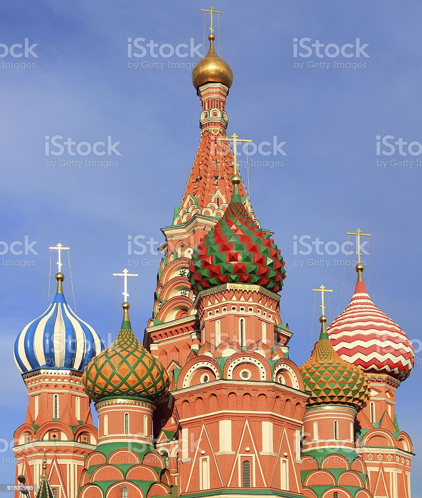 blessed Basil cathedral royalty-free stock photo