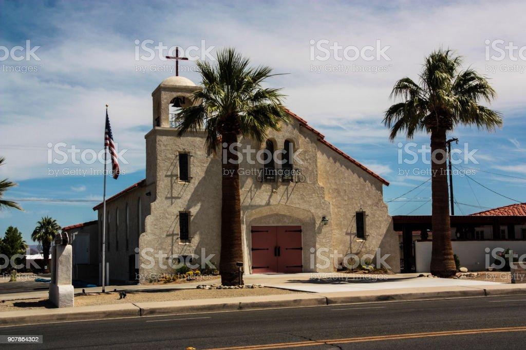 Blessed Sacrament Church in Twentynine Palms stock photo
