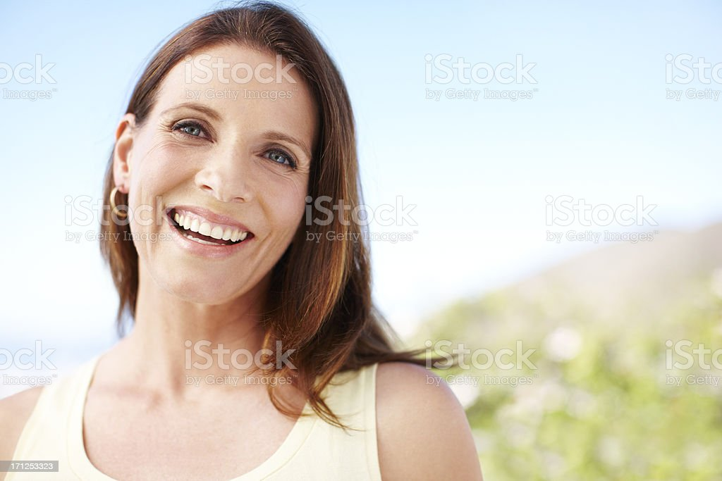 Blessed with beauty and possessed of confidence - Mature modern royalty-free stock photo