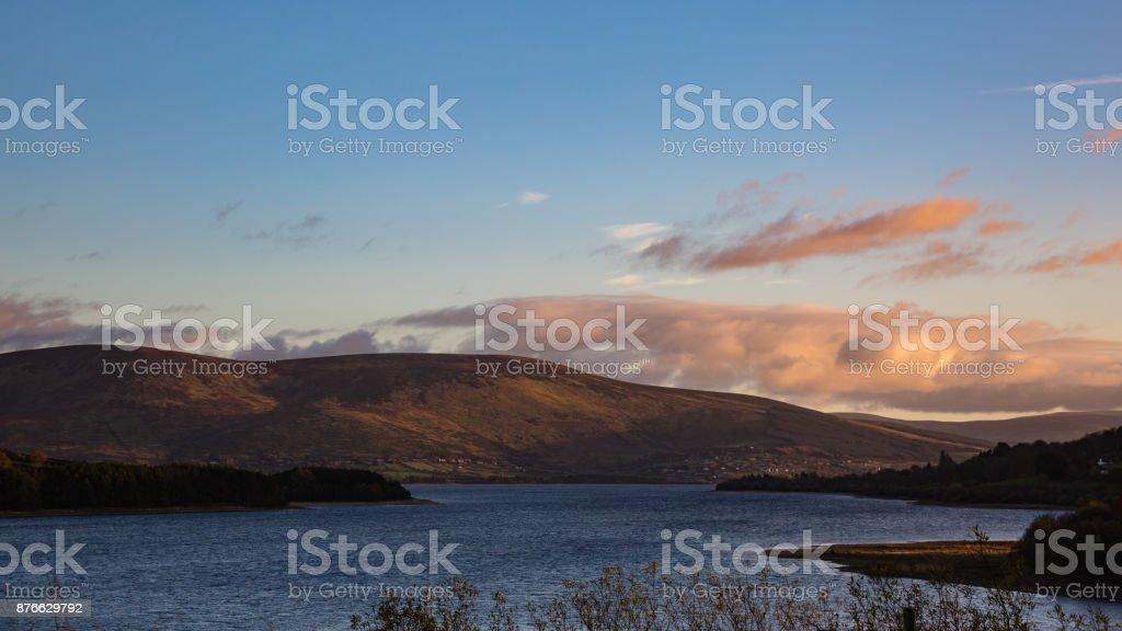 Blessington Lake Landscape stock photo