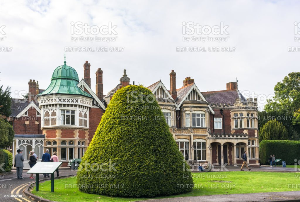 Bletchley Park Mansion stock photo