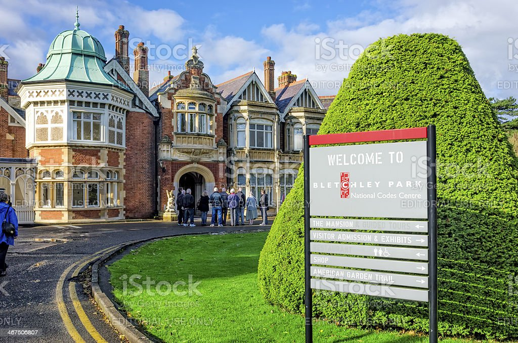 Bletchley Park Tour stock photo