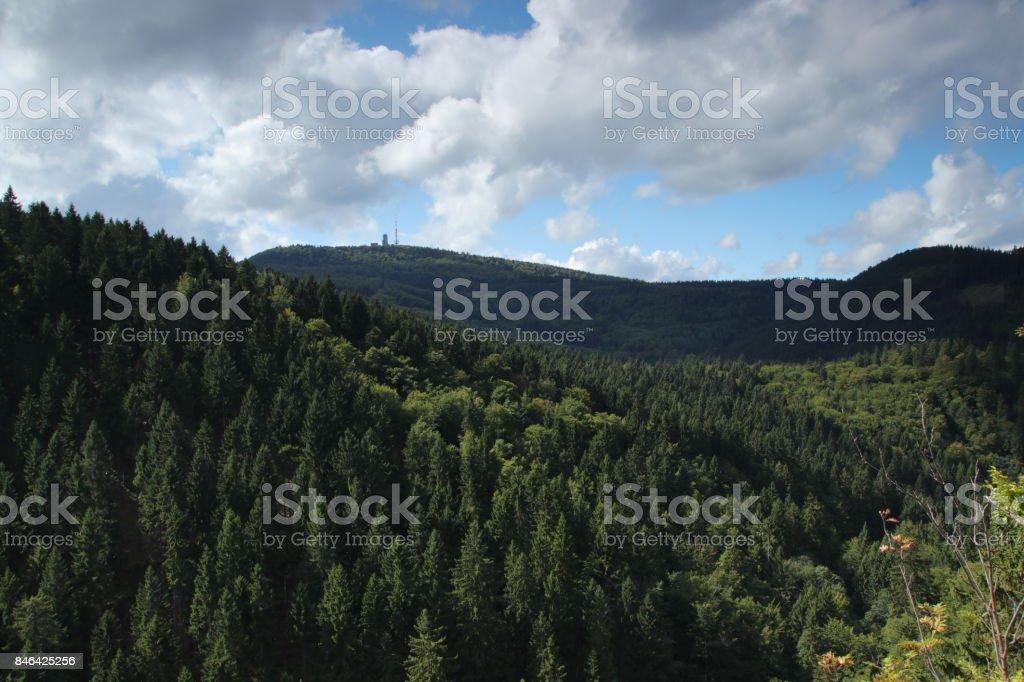 Blick auf den Inselsberg stock photo