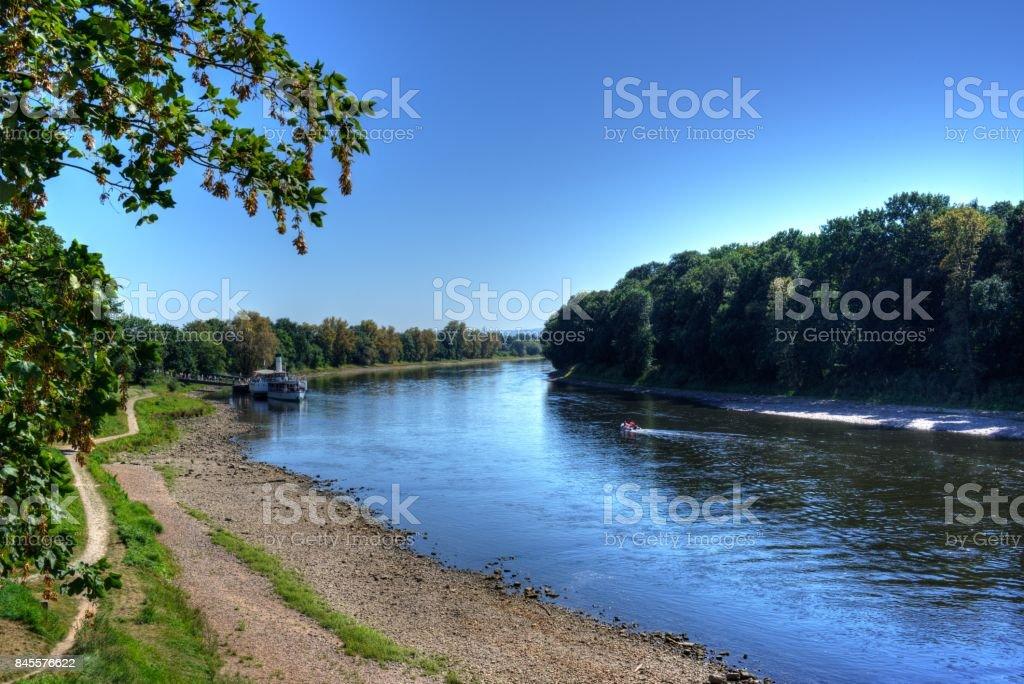 Blick auf die Elbe stock photo