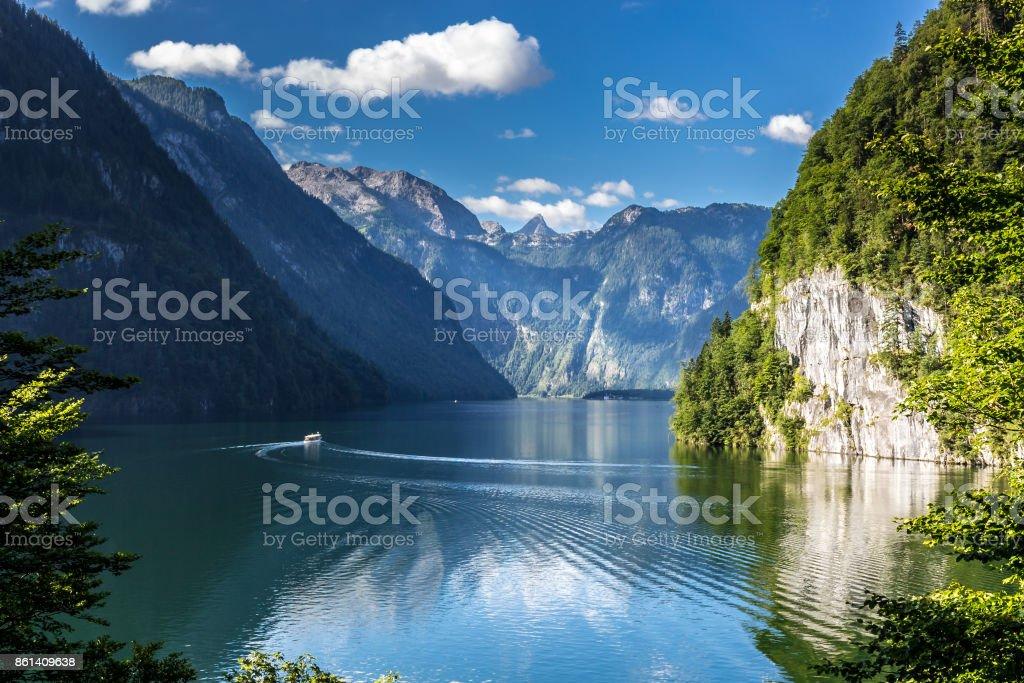 Blick auf Königssee stock photo