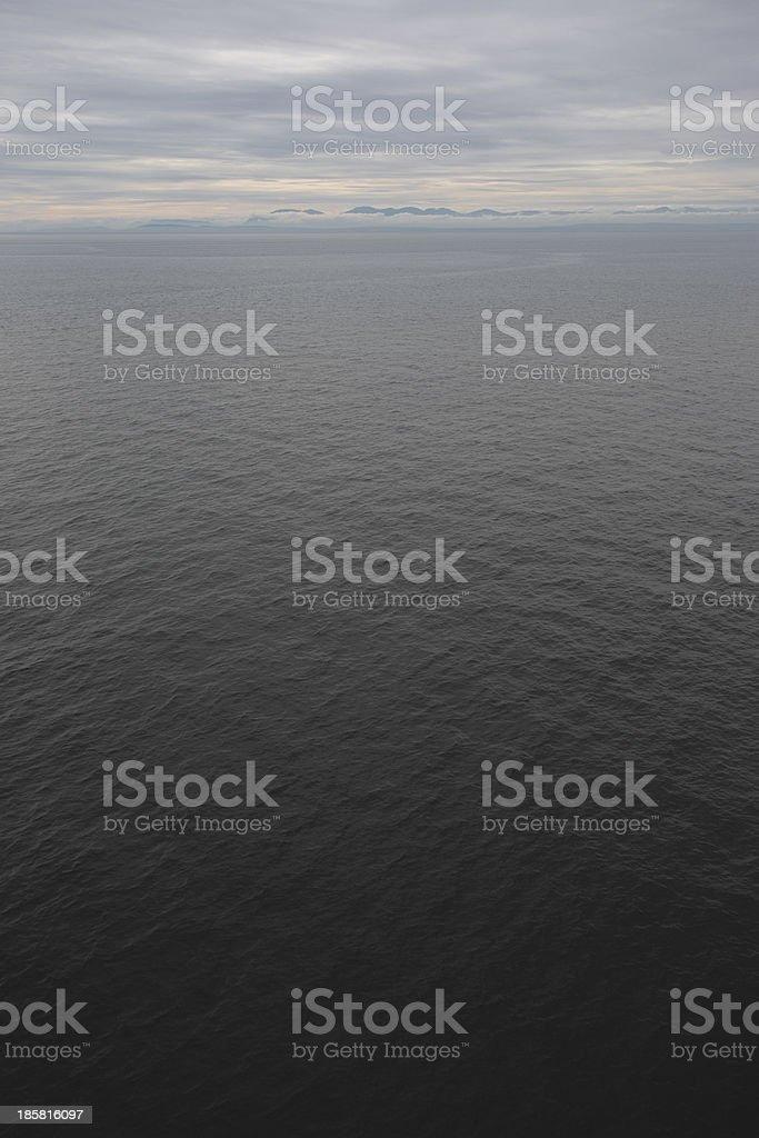 Blick auf Vancouver Island vom Pazifischen Ozean royalty-free stock photo