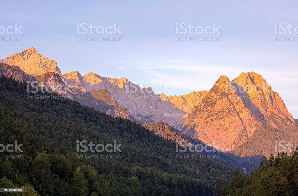 Blick aufs Zugspitzland stock photo