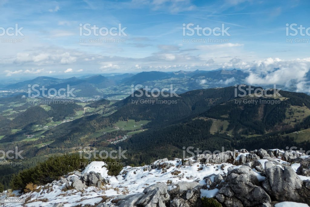 Blick vom Kehlsteinhaus stock photo
