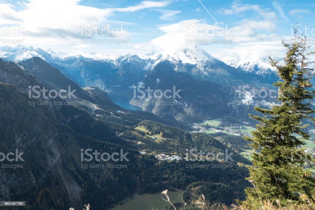 Blick vom Kehlsteinhaus zum Königssee Bayern stock photo