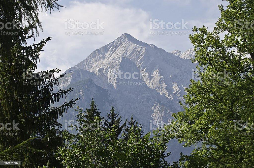 Blick zur Alpspitze stock photo