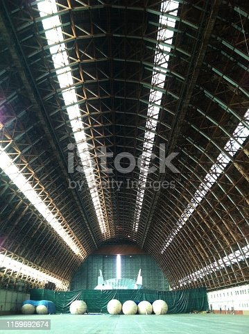 Inside Blimp Hanger - Tustin California - Largest Wooden Structure.