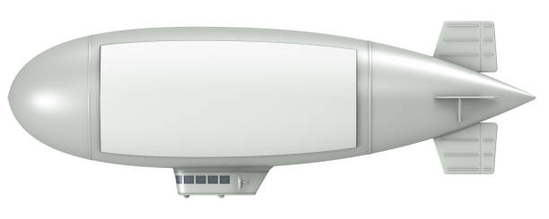 Blimp with sign stock photo