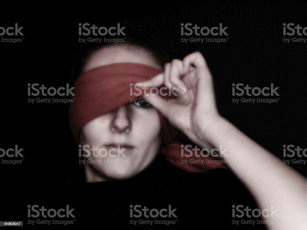 blind 4 stock photo